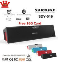 best micro stereo - Free G card best hifi bluetooth speaker Original sardine w nizhi with fm radio pill speaker micro for tf card stereo