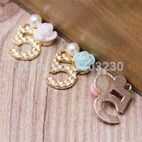 alloy phone number - Trendy metal gold plated number five with Resin Rose pearl decoration pendants charms diy phone key bag making