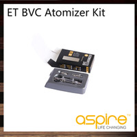 Replaceable 3.0ml Plastic 2014 Aspire ET BVC Atomizer Kit Aspire ET Kit BVC Clearomizer With 2 Extra eGo Bottom Dual Coil Aspire ET Kit BVC Atomizer Replacement Tank