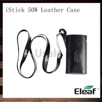 Wholesale Eleaf iStick W Leather Case iStick eCig Carry Case Necklace Pouch eGo Lanyard For iStick W Mod Battery Original