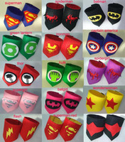 Wholesale 19design kids Superhero Wrist super hero wristband superhero Superman Batman Spiderman avengers cosplay armguard arm bands Children