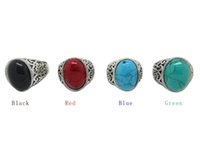 antique eternity rings - 2015 Colorful Brand New Women s Antique Silver Ring with Four Color Turquoise Gemstone Silver of Rings Eternity Band Rings Mens Rin