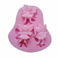 Wholesale Delicate D Angel Modeling Silicone Fondant Cake Molds Soap Chocolate Mould Hot Selling