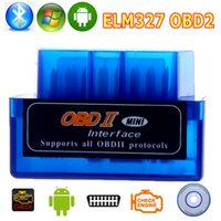 Wholesale Newest Super Mini V2 ELM327 OBD OBD2 ELM Bluetooth Interface Auto Car Scanner Diagnostic Tool for Android Windows Symbian