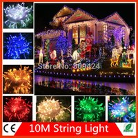 Wholesale Christmas Decoration lights M LED string Light Christmas V V Wedding garland outdoor curtain rope lamps colors