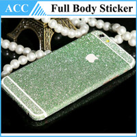 Wholesale Full Body Shiny Glitter Bling Diamond Film Matte Protector For iPhone s Skin Sticker Cover Front Back for iPhone6 Plus iPhone5S DHL