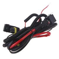achat en gros de kit hid harnais de relais-Kit de conversion HID Fils de xénon Harnais Fil de relais Câblage du câble d'adaptateur H3 Haut / Bas Bi