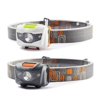 Wholesale DHL Free Mini Portable Headlamp LM Headlight Cree R3 Headlamps LED Flashlight Headlights Torch Lanterna With Headband Hiking Camping