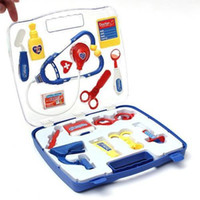 Wholesale Child doctor kit Kid s Doctor Nurse Medical Carry Case Box Role Play Set Baby Kit Educational Toy