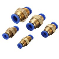 Wholesale Brand New Pneumatic Push In Bulkhead Connector Fittings for Air Water Vacuum Hose Tube New Arrvial