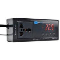 Wholesale Digital LED aquarium thermometer Temperature Controller aquecedor aquario Thermostat tortugas en aquarium for pet