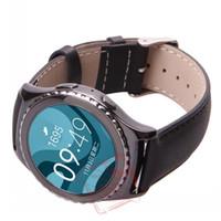 2016 NEW 100% cuir véritable bracelet montre bracelet Pour Expédition Samsung Galaxy S2 engrenage classique SM-R732 gratuit
