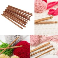 Wholesale New Size Bamboo Handle Crochet Hook Knit Yarn Craft Knitting Needle set