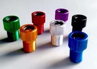 Wholesale Wholel Sale Multi Color Presta To Schrader Air Pump Bicycle Bike Valve Type Adaptor Converter Adapter
