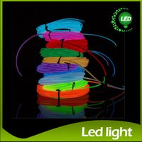 Wholesale 8 Colors M Neon Flexible Light EL Wire Rope Tube with Controller Halloween Christmas Decoraion
