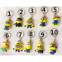 best discount card - 2015 Discount Despicable Me Minions KeyChains Best Selling Keychain Key Ring Cute Gifts CARD Package Top Materials