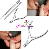 Wholesale 3pcs Stainless Steel Nail Tools Cuticle Care Nippers Clipper Scoop Pusher Tool Manicure Kit Hot Sale sets