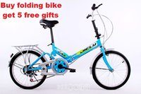 folding bikes - US Stock quot Fast Folding Compact Portable Fold up Bike Bicycle speed Blue
