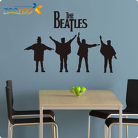 Wholesale Large Vinyl Music Wall Stickers - The Beatles Wall Decals 2015 New Designs Removabl Rock Music Poster Vinyl Wall Stickers Wall Paper Wall Art Mural