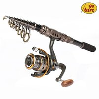 Wholesale Goture Portable Telescopic Spinning Fishing Rod with Reel Combos Carbon Fiber Generic Bearings DK3000 Spinning Fishing Reel