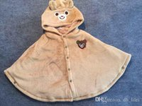 baby bear ponchos - For T INS Hot Sale Bear Cloak Mikihouse For Infant Toddler Baby Girls Thickening Double Flannel Clothes For Winter Very Warm