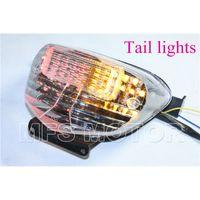 Wholesale motorcycle parts LED Tail Brake Light Turn Signals For Suzuki GSXR GSX R600 GSXR750 GSXR1000 Clear