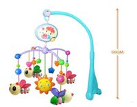Wholesale 50pcs Bed bell baby toy bedside bell bee music bed bell rattles rotating bed hanging baby rattles HL
