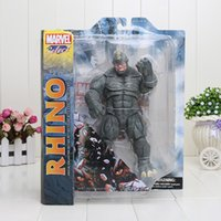 Gray toy for man - 9 cm Movies Marvel Select The Amazing Spider Man Rhino Action Figure Toy Christmas Gifts for kids