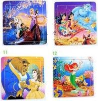 belle parts - Jasmine Rapunzel Belle Mermaid Ariel Princess Collectibles Wooden Parts Jigsaw Puzzle Toy