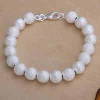 Wholesale sterling silver jewelry bracelet fine fashion beads bracelet top quality and retail SMTH075