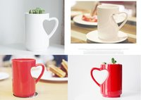 abs pots - 2015 New ABS Heart Shaped Lovers Mug Tea Cup Pot Capacity cc Multifunction Cup