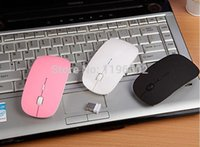 Wholesale 2 GHz Mini USB Wireless Mouse Mice G Receiver Super Slim Mouse For Laptop Notebook Computer Mouse Free DHL Fedex