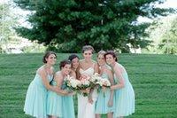 Cheap Short Bridesmaid Dress Best Mint Green BridesmaidDresses