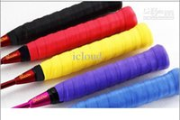Wholesale 2 x Racket Handle Sweat Absorbing Band Grip for Badminton Racket Five color from icloud