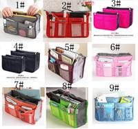 Bolsa de cosméticos Cosmética de almacenamiento de la bolsa del monedero del bolso de viaje Girls organizador de la señora bolsa de almacenamiento 10 Colores C001