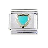 venda por atacado italian bracelet-meninas 9mm clássico esmalte amor do coração italiano charme pulseira de aço inoxidável encantos modulares ligar encaixa Nomeação