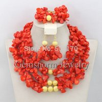 coral coral necklace - Marvelous African Coral Beads Jewelry Set Handmade Strands Nigerian Beaded Coral Jewelry Set k Gold CNR234