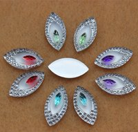 Wholesale 100pcs mm Dual color Horse eye Acrylic Crystal Rhinestones flat back Beads crafts Scrapbook ZZ261
