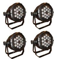 Wholesale 4pcs waterproof outdoor Ip65 par led par light watts in1 quad color RGBw led par can DMX chls hot