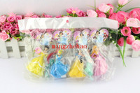 belle keychain - New Sale Princess keychain figures CM Cinderella Snow white Belle Tinker bell Cartoon Figure Toy