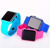 apples quartz wristwatch - LED Touch Screen Watch Apple Design Watches For Mens Women LED Sports Watches Silicone Digital Watch Mens LED Watches Quartz Wristwatch