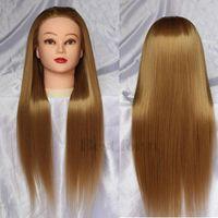 Wholesale Hairdresser Practice Mannequin Head Dummy Mannequin Head Hair Styling Mannequins Long Hair Make Up Mannequin Head