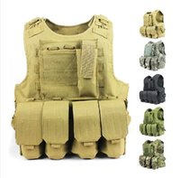 Wholesale Military tactical vest amphibious multifunctional tactical molle system outdoor hunting vest nylon fabric