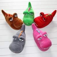 Wholesale 2014 new hot shoes Small alligator cartoon character animal Slippers Claw Home Flat Shoes Warm Winter Indoor HX