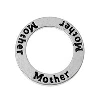 antique mothers ring - Closed Soldered Jump Rings Washer Donut Pendants Antique Silver Message quot Mother quot Carved mm quot Dia new