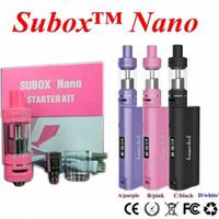 Wholesale Kanger Subox nano starter kit Sub tank mini RDA subtank atomizer KBOX W Variable Wattage Box Mod E cigs dhl