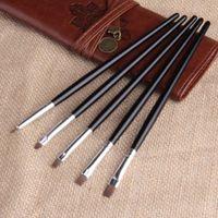 Wholesale 5set Brush Pen Dotting Draw Nail Art Acrylic UV Gel Salon Flat Paint Tool Set YKS