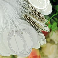string labels - 500pcs pack paper label tie string clothing clothes price tag tags display ES1057