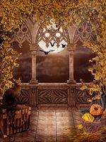 backgrounds web - 300cm cm x20ft halloween background vinyl Moon black spider web vinyl background ZJ