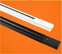 Wholesale m LED track rail Track light rail connectors Universal rails lighting fixtures Black White